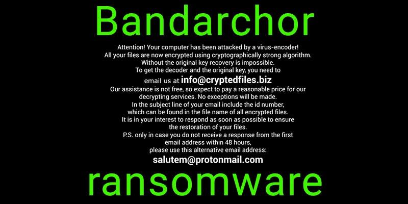 Bandarchor ransomware