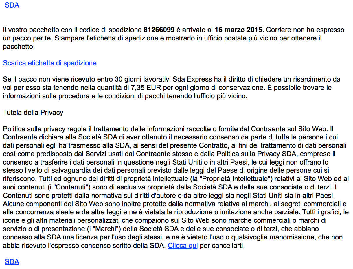SDA 2015 RTF Email